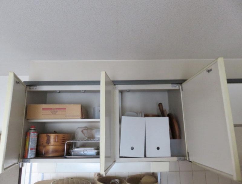 キッチン吊り棚整理収納ビフォー