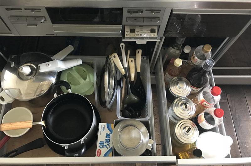 お片づけサポート キッチン① ビフォー