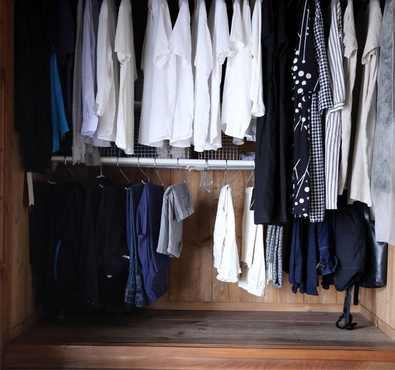 夫の衣類収納スペース