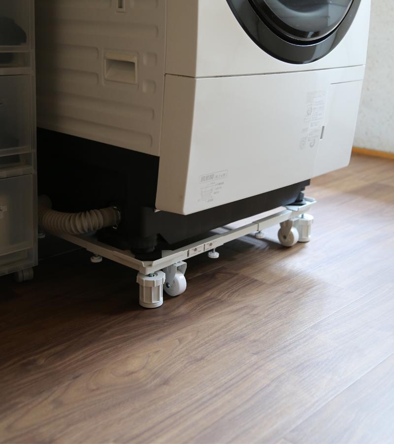 洗濯機スライド台白