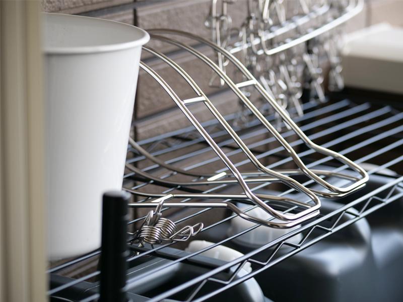 毎日の洗濯を楽しむために、ベランダ収納を整える。の画像
