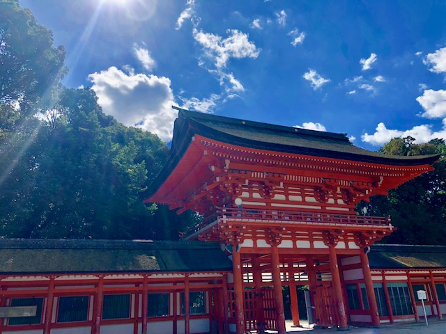 本殿側の楼門