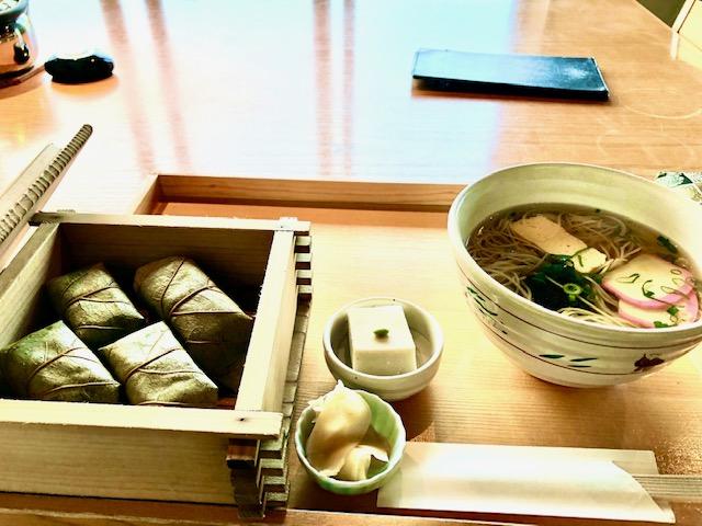 柿の葉寿司&三輪素麺