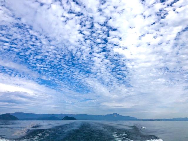竹生島帰りの景色