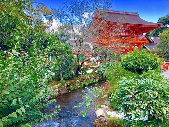 上賀茂神社と川
