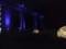 宇津井駅のイルミネーション。この後花火が上がった。