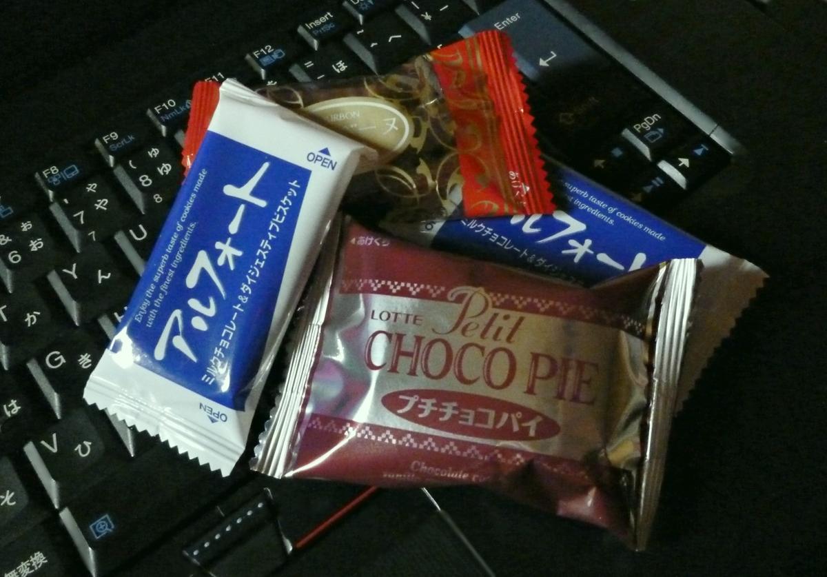 おやつのチョコレート菓子