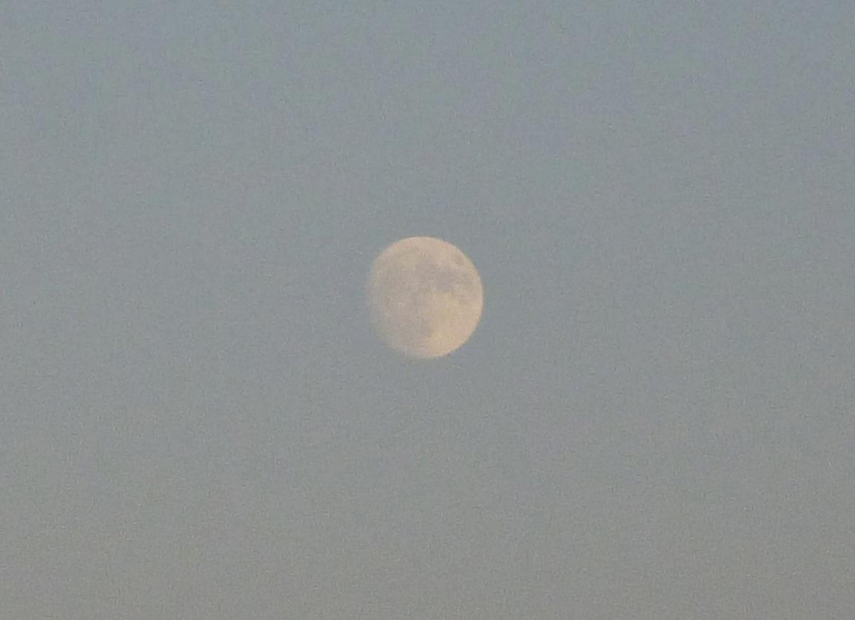 4日前の月