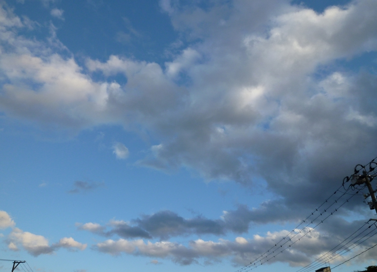 初冬の表情豊かな雲と空