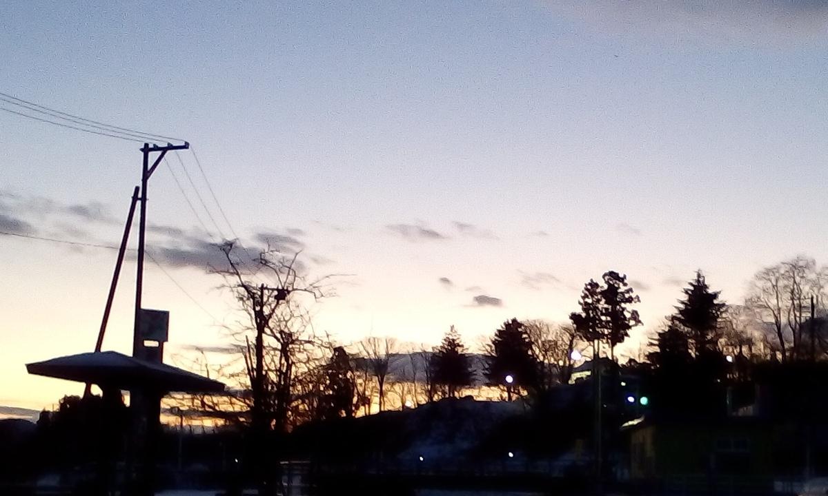 2月の早朝