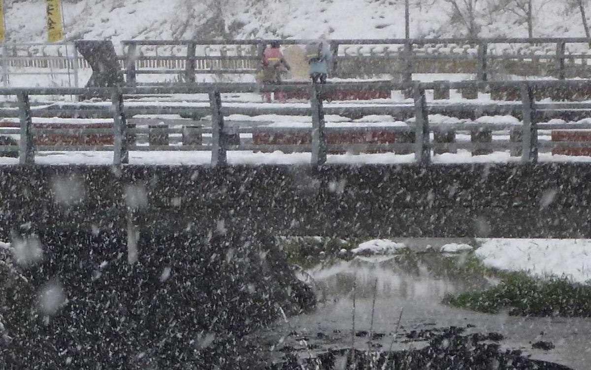 雪景色 橋