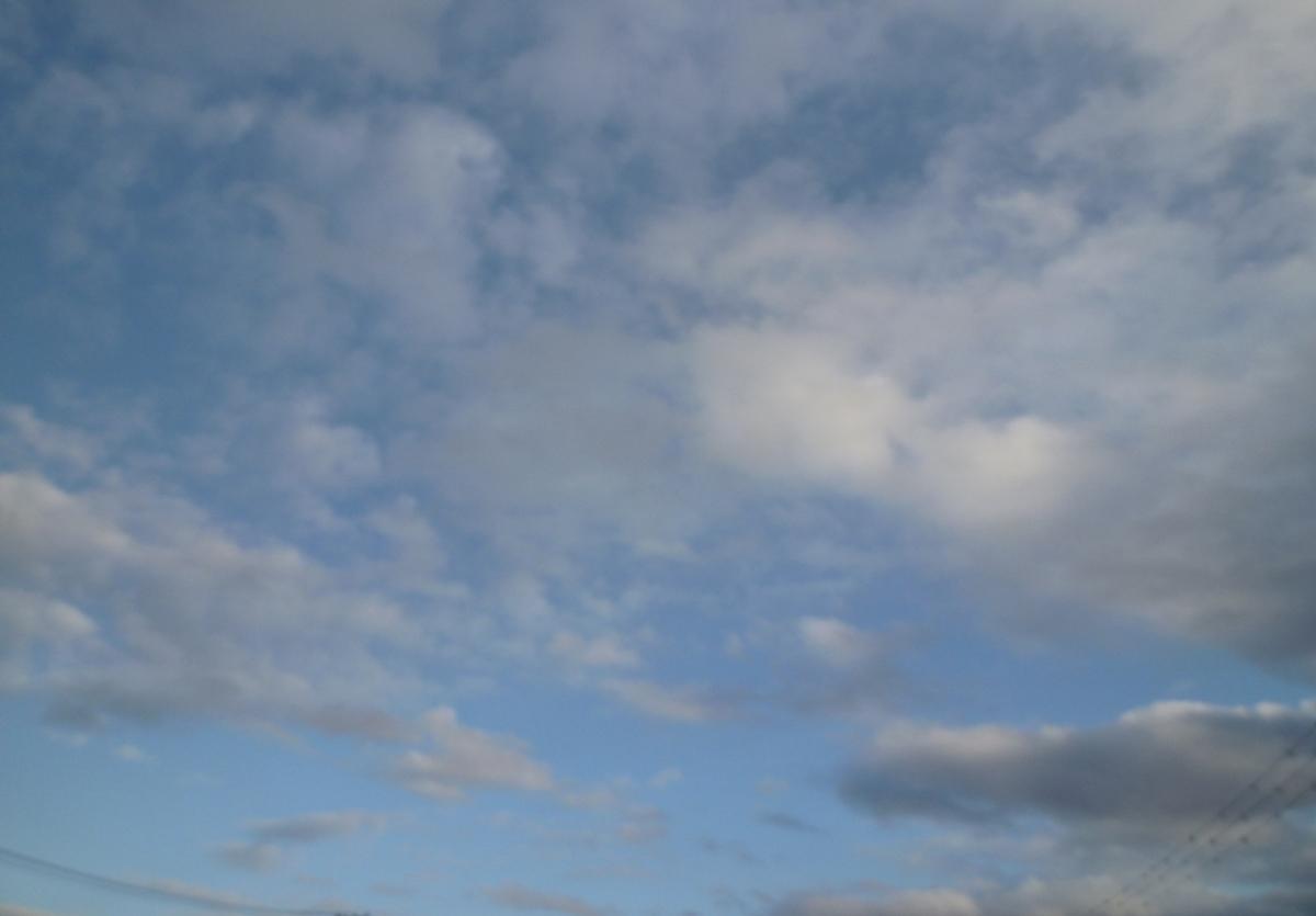 今日の空 美しい冬の雲たち