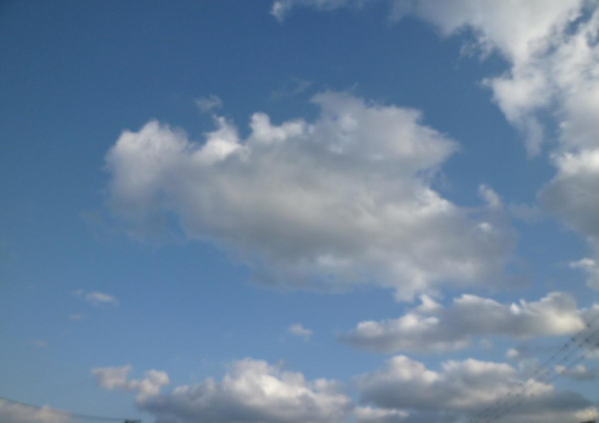 今日の空と雲