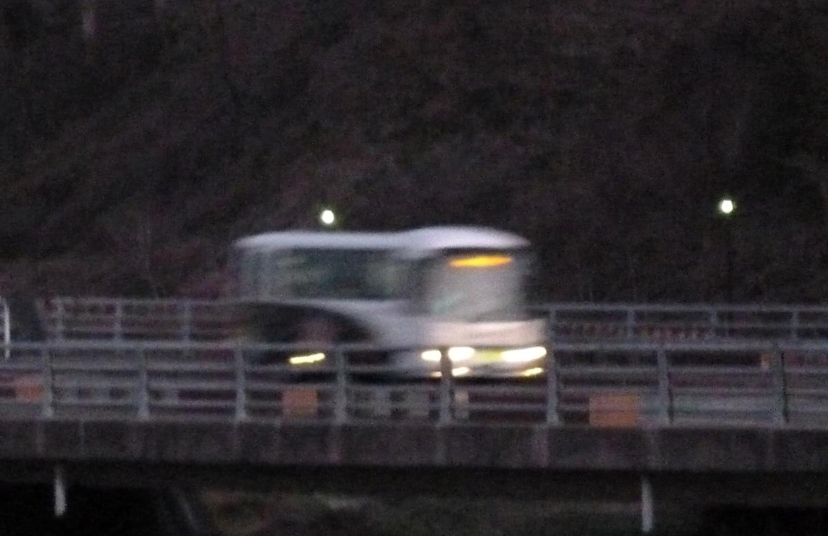 夕方のバス