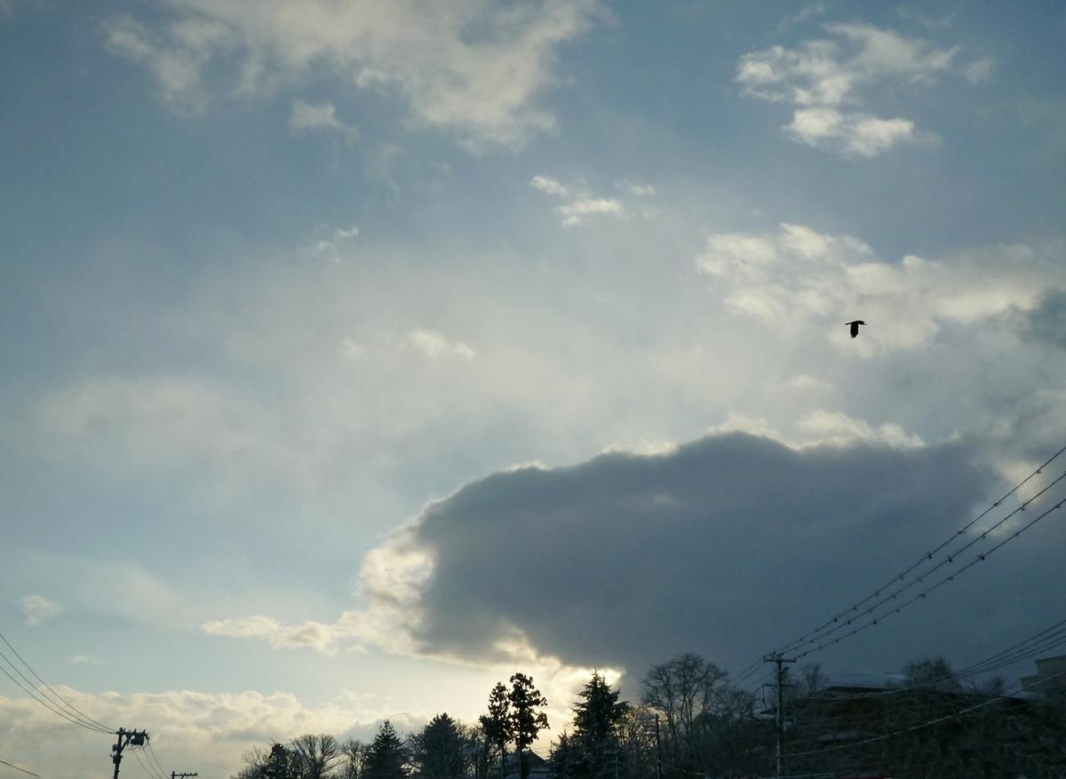 早朝の空と雲