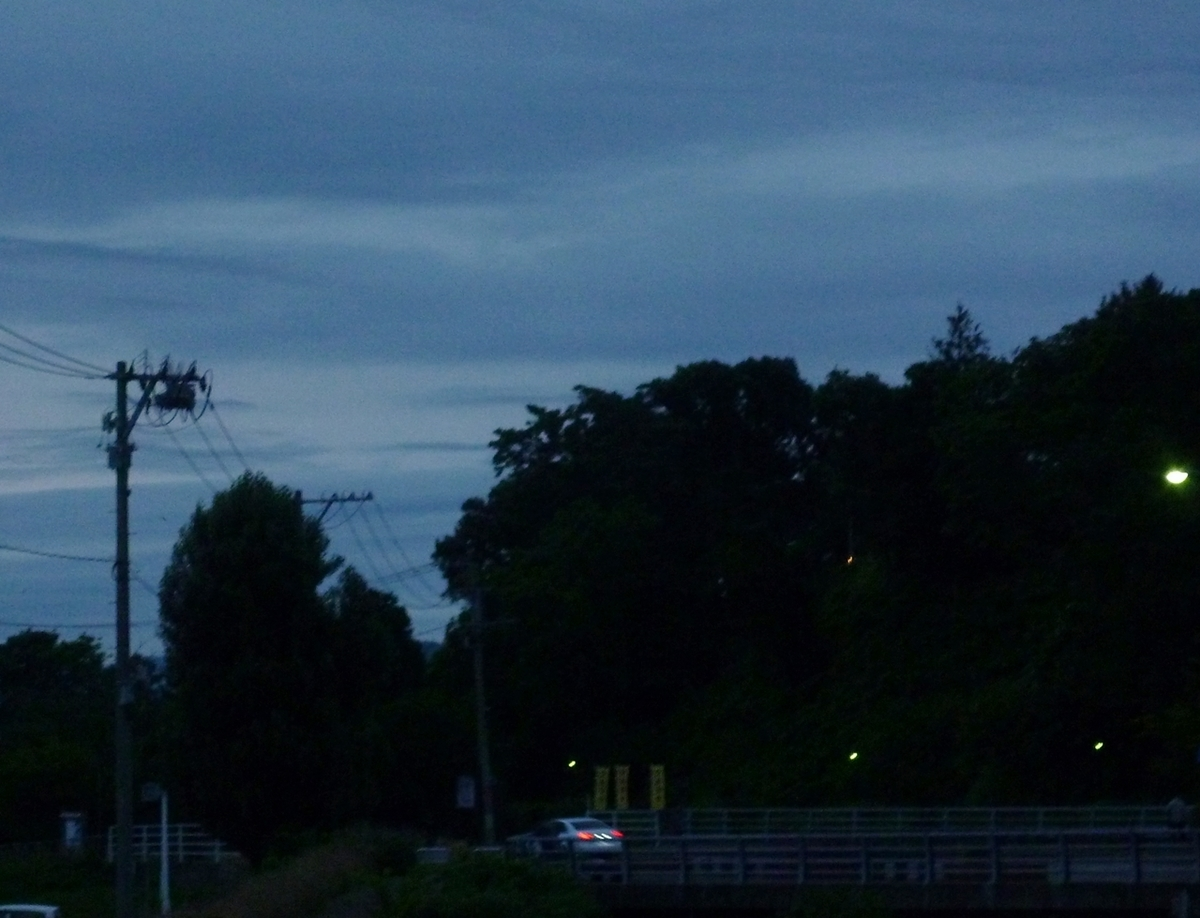 日の出前の風景 2020年7月4日撮影