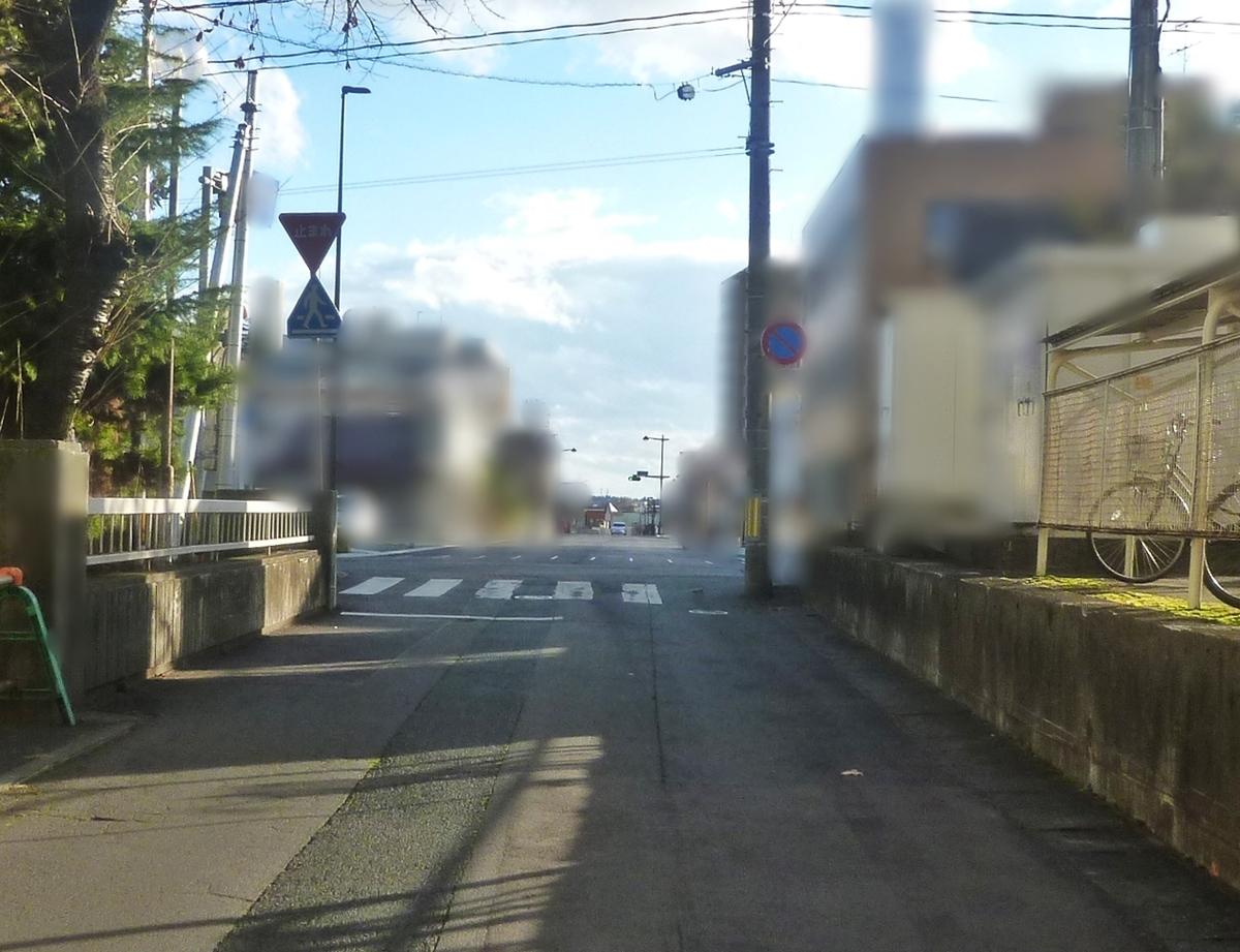 通院途中の道路