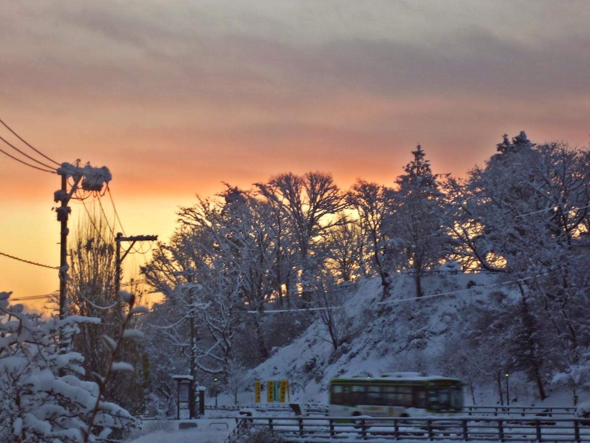 冬の朝焼け
