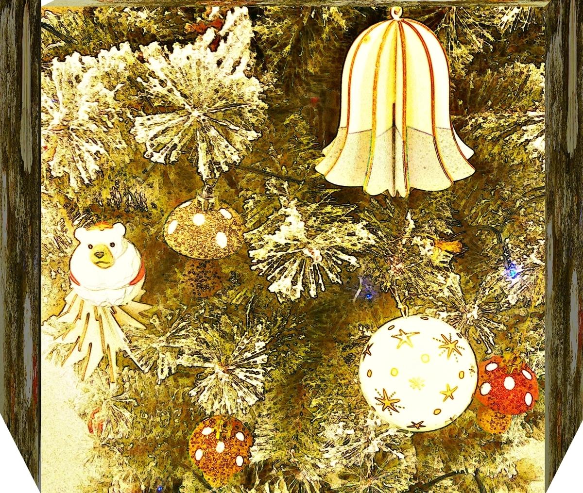 クリスマスツリーの飾り 加工済み