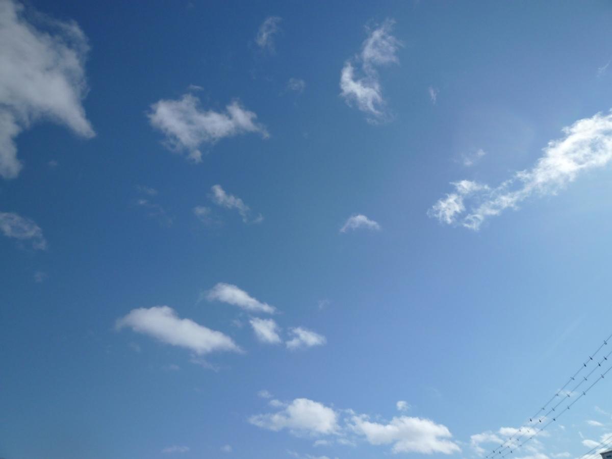 真冬の青空