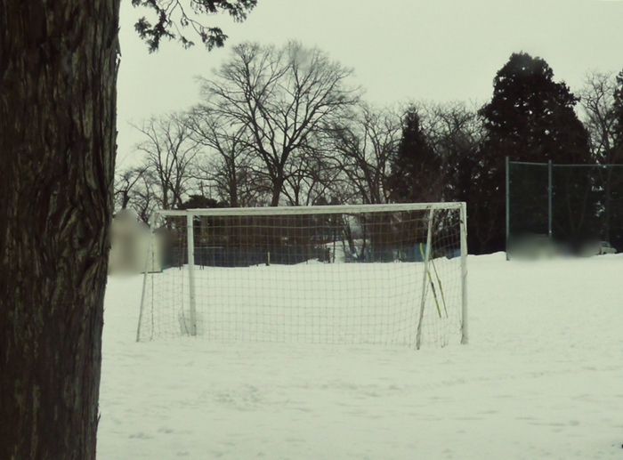 雪に埋もれたくラウンド