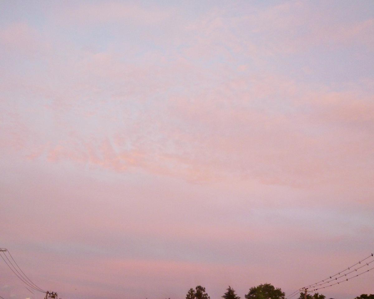 5日の夕焼け