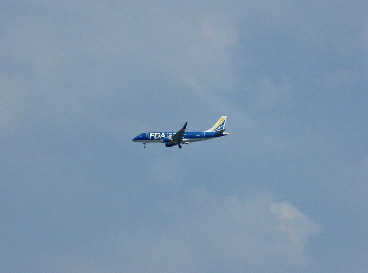 FDA 旅客機 着陸寸前