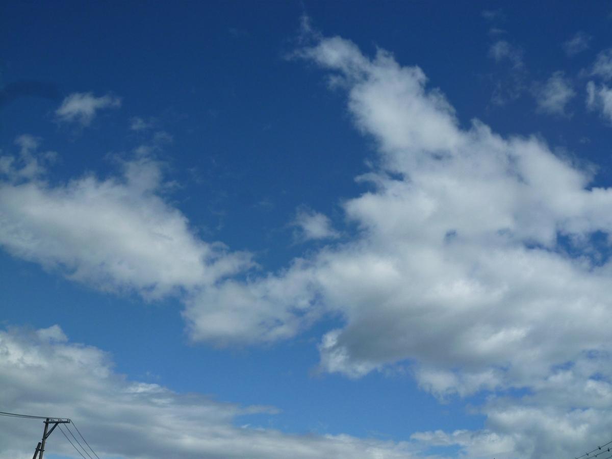 今日の青空と雲