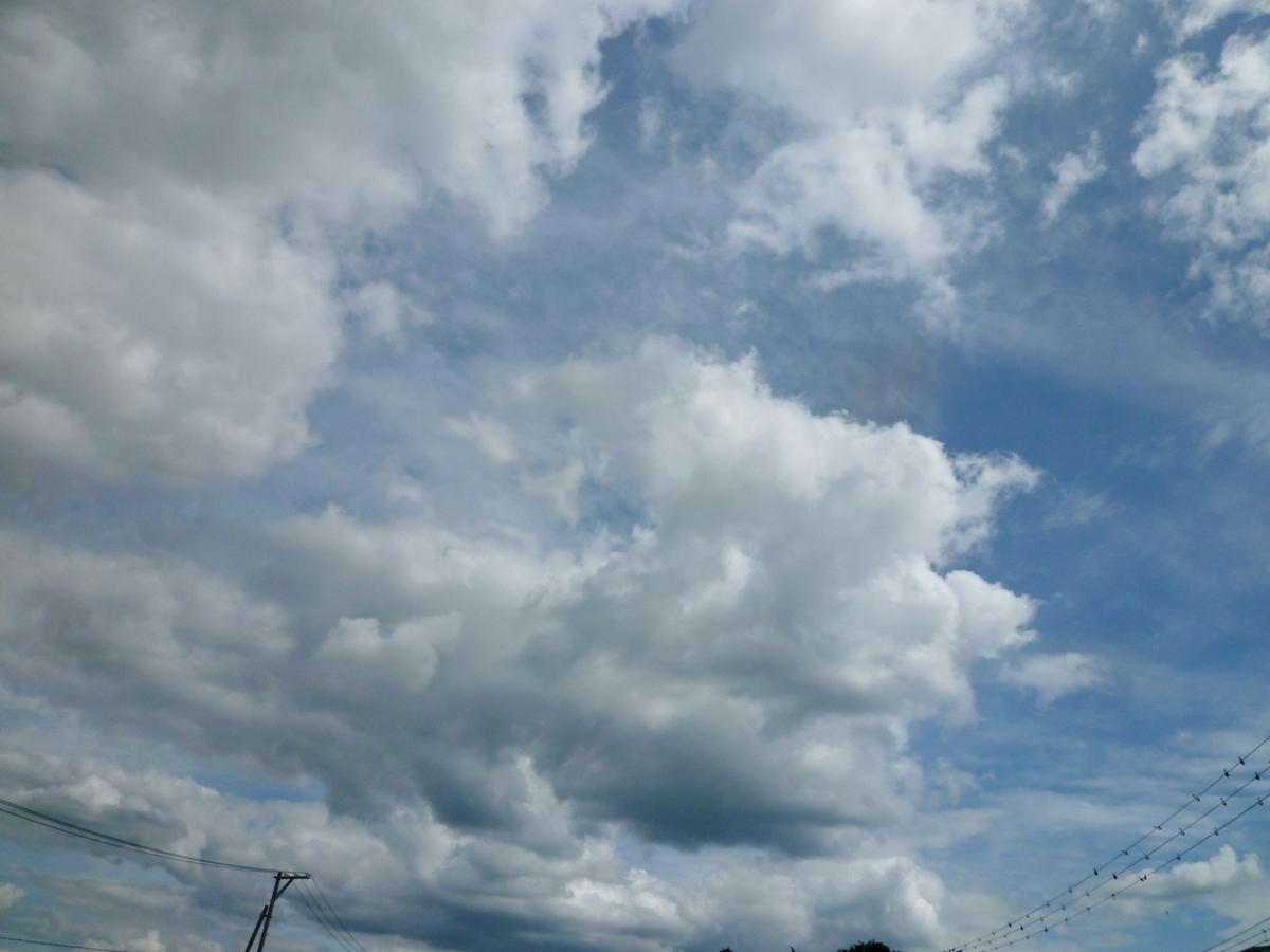 荒々しい雲
