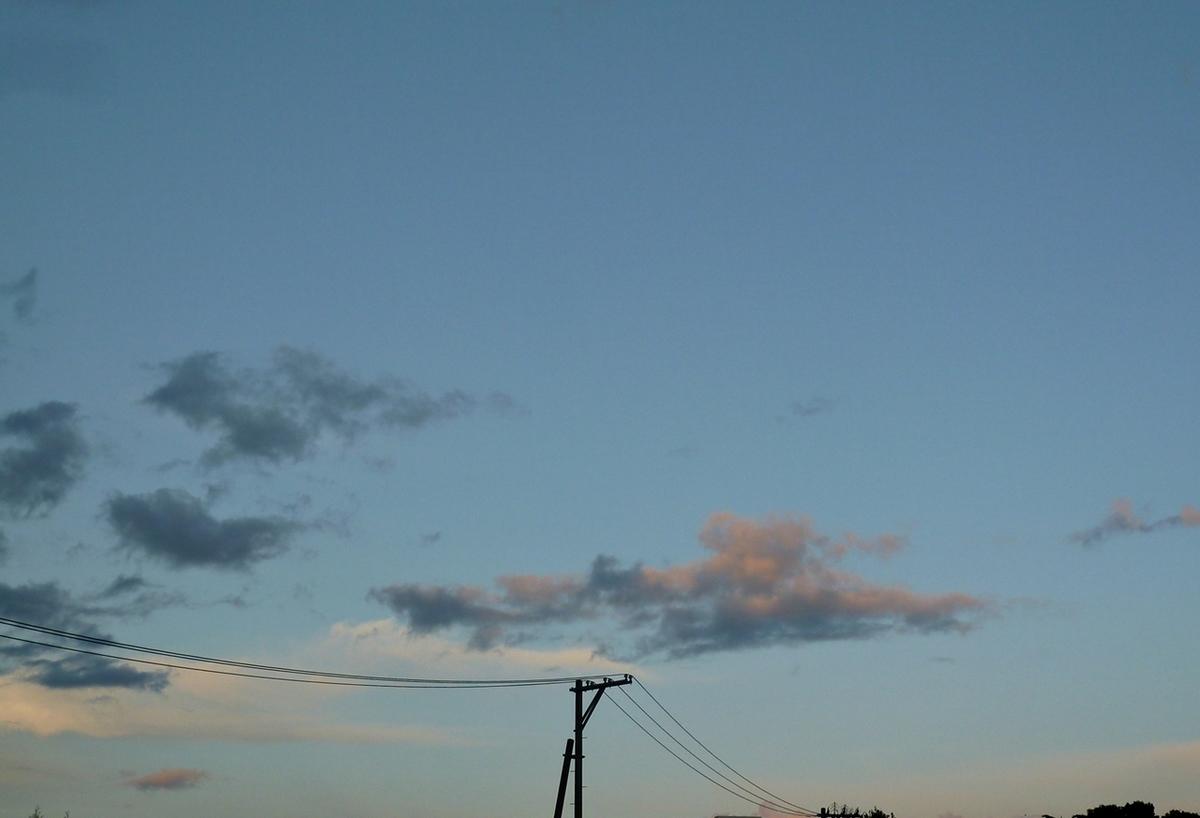 昨日の夕暮れの空