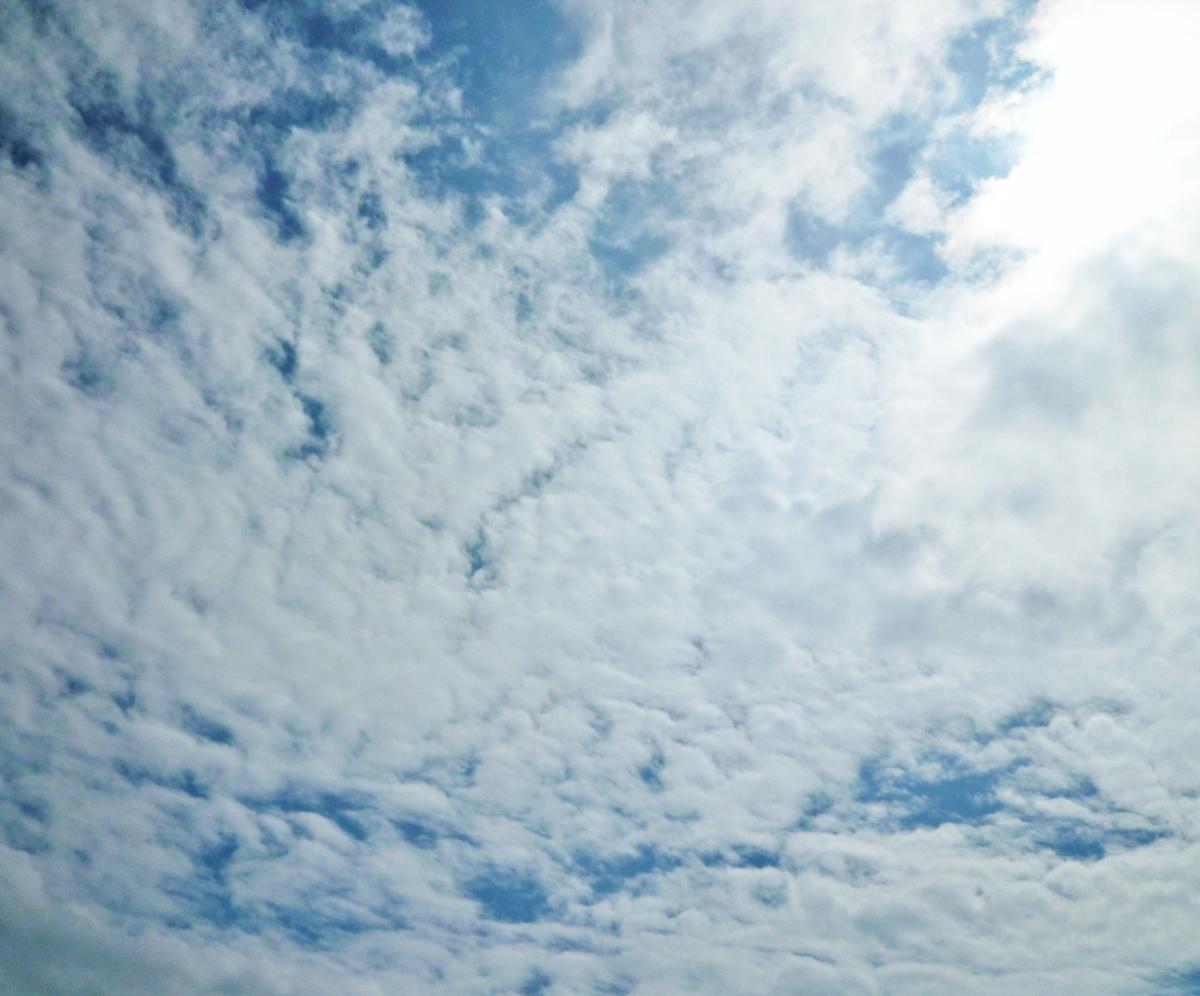 青空と白い雲と太陽