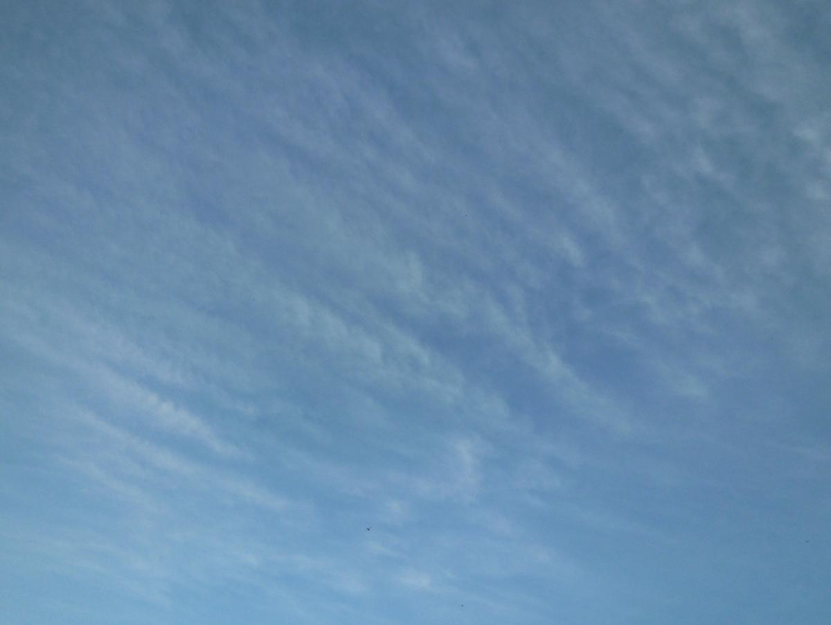 南東の空と雲