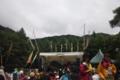 [twitter] ジプシーアバロンのステージ前。晴れてイイ感じになってきました。