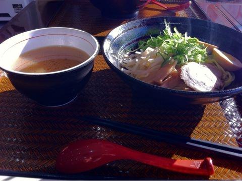 京橋PAの楽善園のつけ麺
