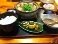 くらま温泉の鴨鍋膳