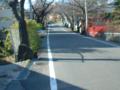 城山公園までの坂道(ボケてます)