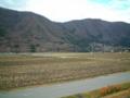稲尾駅ホームより木崎湖を望む