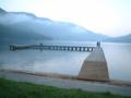 早朝の木崎湖畔