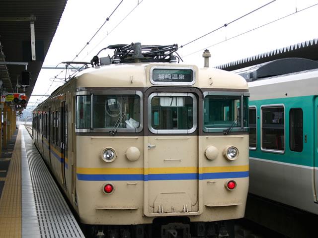 城崎温泉行き電車