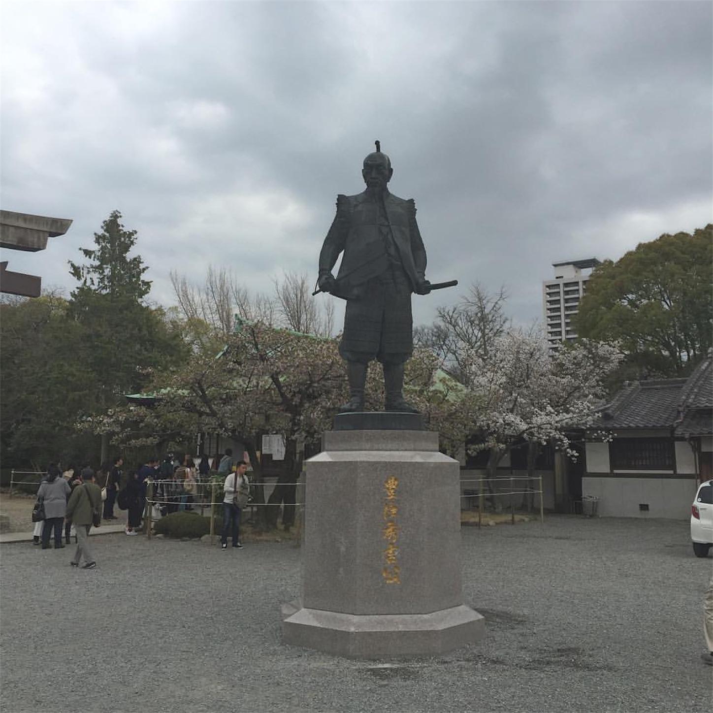 大阪・豊国神社の豊太閤像