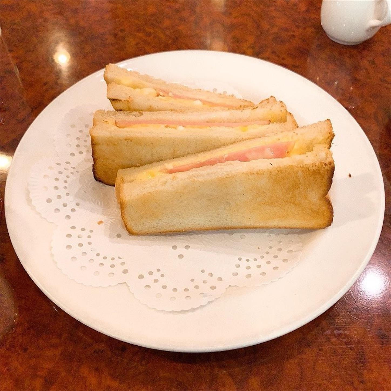 英國屋のたまごサラダ&ハムのトーストサンド