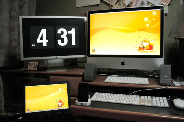 自宅のMacが勢ぞろい