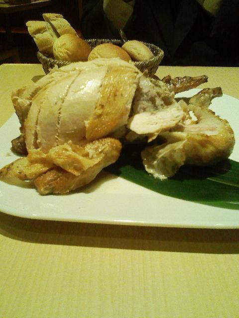 収穫祭の「丸鶏」