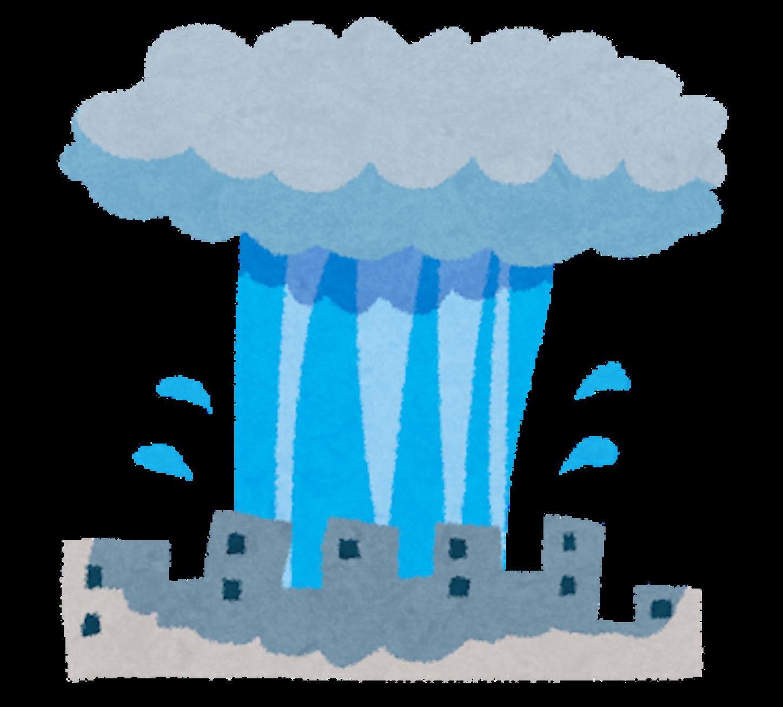 ゲリラ豪雨のイメージ