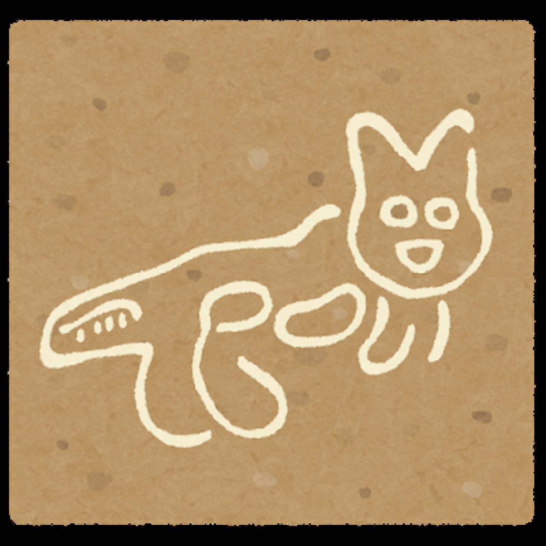 ナスカの地上絵のイラスト(猫)
