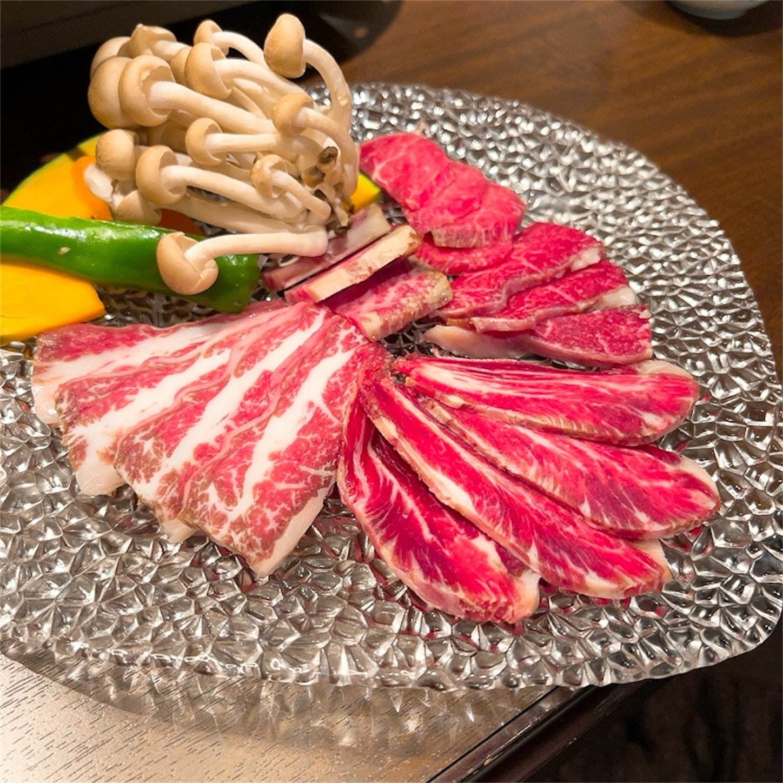 桜肉焼肉盛り合わせ