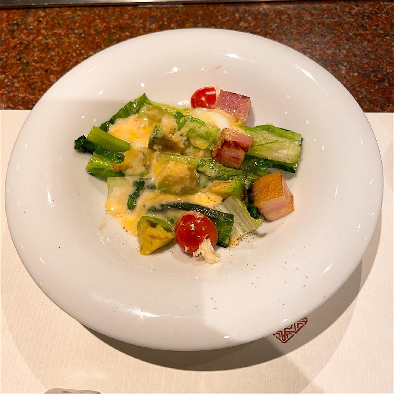 焼ロメインレタスのサラダ