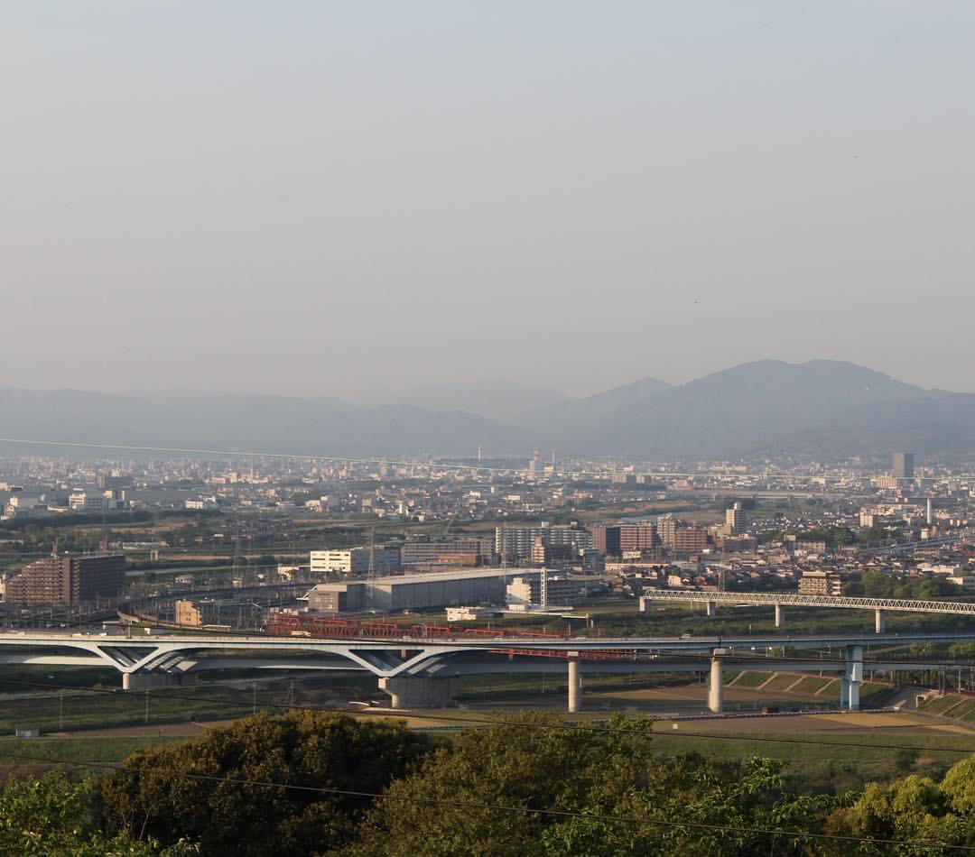 展望台から京都方向