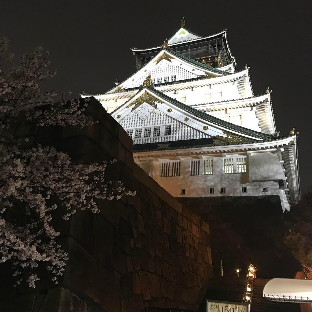 夜の大阪城天守閣