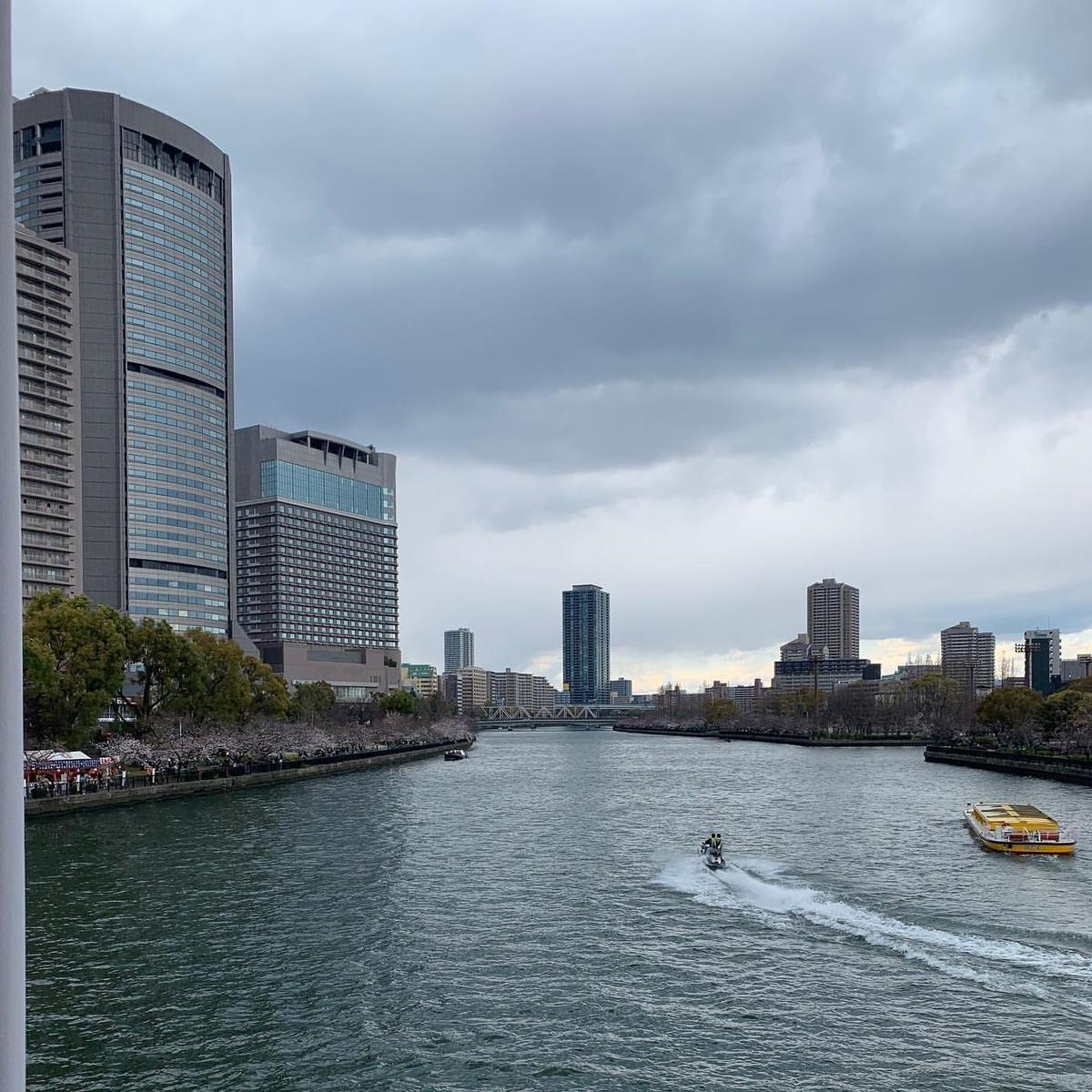 桜宮橋にて